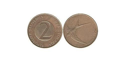 2 Tolar Slovenia Copper/Zinc