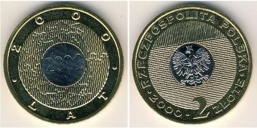 2 Zloty Third Polish Republic (1991 - ) Bimetall