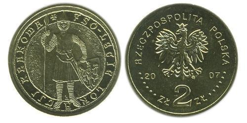 2 Zloty Third Polish Republic (1991 - ) Brass