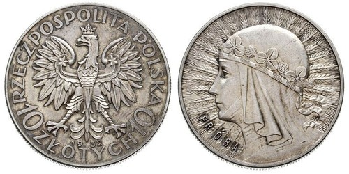 2 Zloty Segunda República Polaca (1918 - 1939) Plata Eduviges I de Polonia