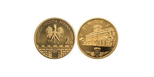 2 Zloty 波兰 Tin/铝/銅/Zinc