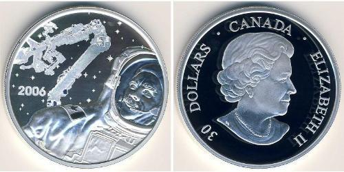 30 Доллар Канада Серебро