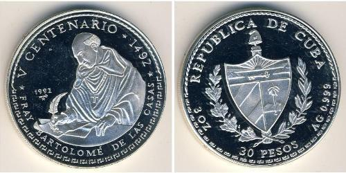 30 Песо Куба Серебро