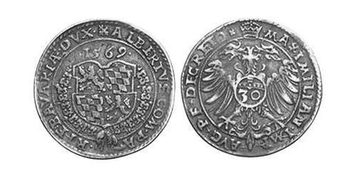 30 Kreuzer Duchy of Bavaria (907 - 1623) Silver Albert V, Duke of Bavaria (1528 – 1579)