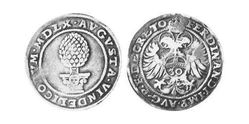 30 Kreuzer Imperial City of Augsburg (1276 - 1803) Silver Ferdinand I, Holy Roman Emperor(1503-1564)