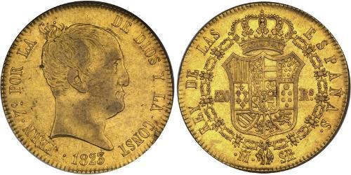 320 Real Kingdom of Spain (1814 - 1873) Gold Ferdinand VII of Spain (1784-1833)