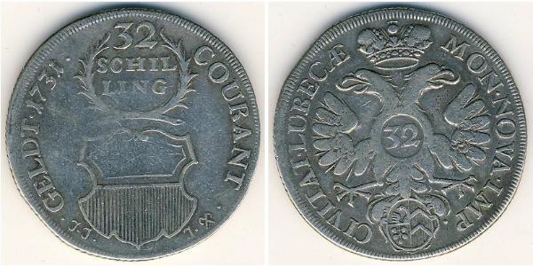 32 Shilling  Silver