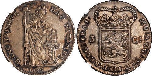 3 Гульден Республика Соединённых провинций (1581 - 1795) Серебро