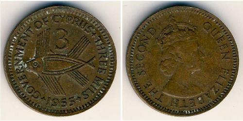 3 Міль Британський Кіпр (1878 - 1960)