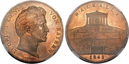 3.5 Гульден / 2 Талер Королівство Баварія (1806 - 1918) Срібло Людвиг I (король Баварії)(1786 – 1868)