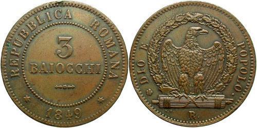 3 Baiocco Vatican (1926-) Copper
