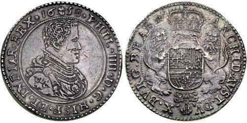 3 Ducaton Dutch Republic (1581 - 1795) Silver Philip IV of Spain (1605 -1665)