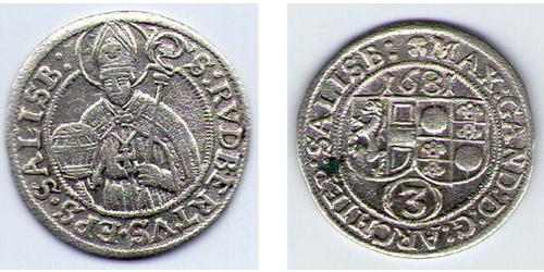 3 Grosh Salzburg Silver