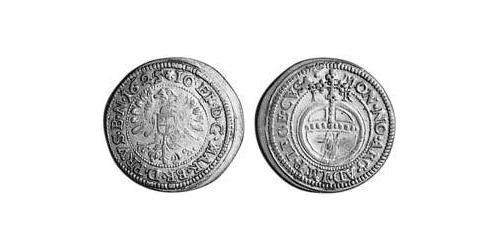 3 Kreuzer Principality of Ansbach (1398–1792) Silver Joachim Ernst, Margrave of Brandenburg-Ansbach (1583 – 1625)