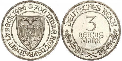 3 Mark Libera Città di Lubecca Argento
