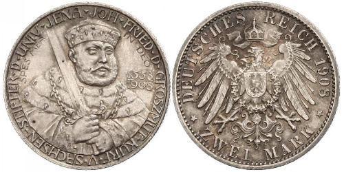3 Mark Ducado de Sajonia-Weimar-Eisenach (1809 - 1918) Plata