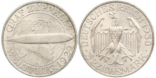 3 Mark Weimarer Republik (1918-1933) Silber