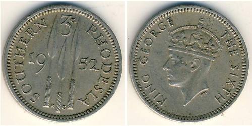 3 Penny 南羅德西亞 銅/镍 乔治六世 (1895-1952)