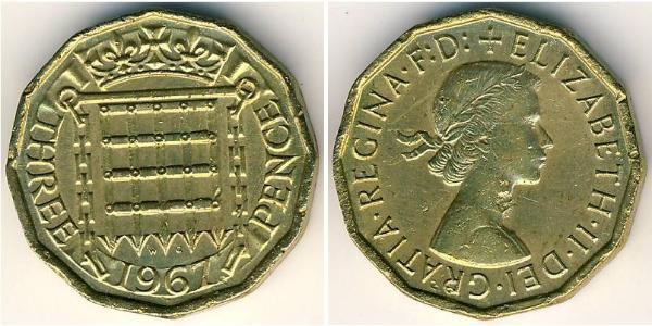 3 Penny United Kingdom (1922-)  Elizabeth II (1926-)