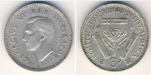 3 Penny Afrique du Sud Argent