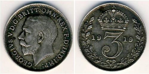 3 Penny Royaume-Uni Argent