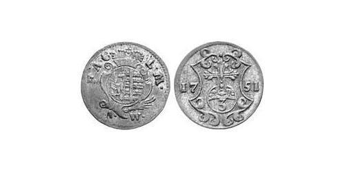 3 Pfennig Principality of Anhalt-Köthen (1603 -1853) Billon Augustus Louis, Prince of Anhalt-Köthen (1697 – 1755)