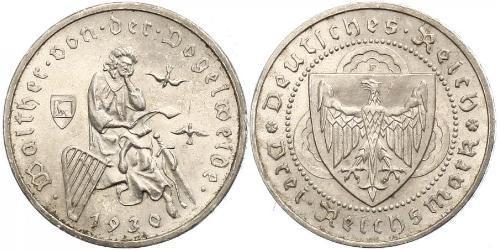 3 Reichsmark Веймарська республіка (1918-1933) Срібло