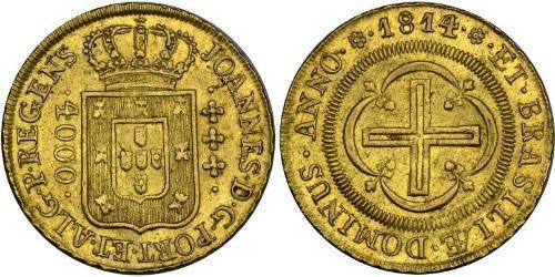 4000 Рейс Бразилія Золото Жуан VI король Португалії (1767-1826)