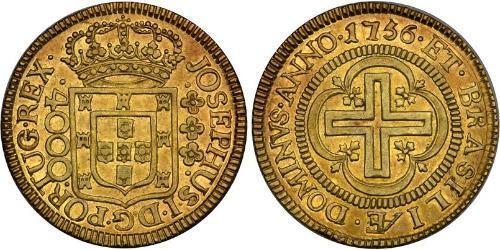 4000 Reis Brazil Gold Joseph I of Portugal (1714-1777)
