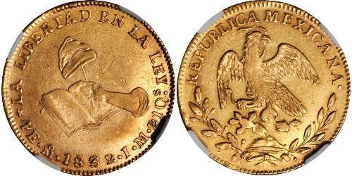 4 Ескудо Second Federal Republic of Mexico (1846 - 1863) Золото