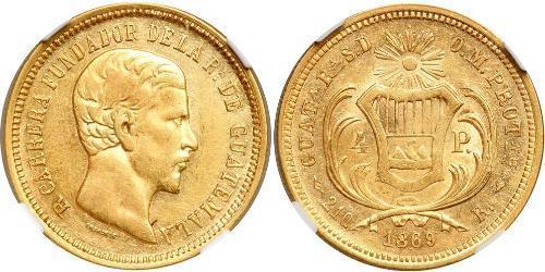 4 Песо Гватемала Золото