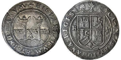 4 Реал Новая Испания (1519 - 1821) Серебро Карл V император Св. Римской империи  (1500-1558)