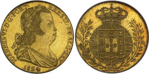4 Эскудо Королевство Португалия (1139-1910) Золото Жуан VI король Португалии (1767-1826)