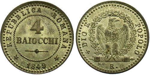 4 Baiocco Vatican (1926-) Silver