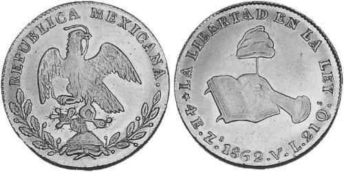 4 Escudo Second Federal Republic of Mexico (1846 - 1863) 金