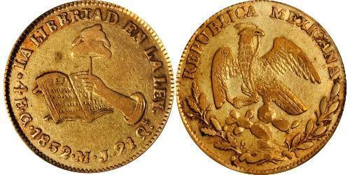 4 Escudo Second Federal Republic of Mexico (1846 - 1863) 金