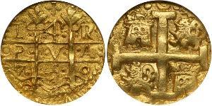 4 Escudo Peru Gold Ferdinand VI of Spain (1713-1759)