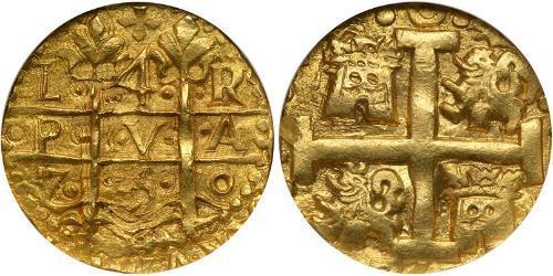 4 Escudo Peru Gold Ferdinand VI of Spain (1713-1759)