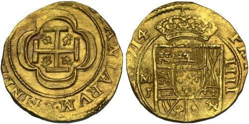 4 Escudo Nouvelle-Espagne (1519 - 1821) Or Philippe V d