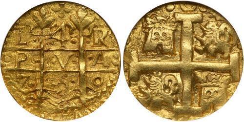 4 Escudo Perú Oro Fernando VI de España (1713-1759)