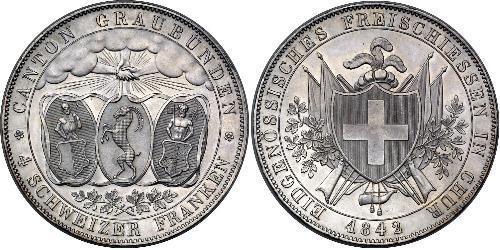 4 Franc Schweiz Silber