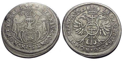 4 Kreuzer Austria  Silver