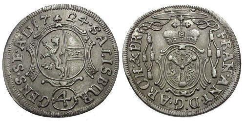 4 Kreuzer / 4 Batz Salzburg Silver