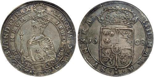 4 Mark Sweden Silver Charles IX of Sweden  (1550-1611)