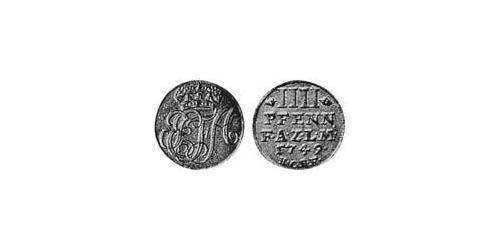 4 Pfennig Principality of Anhalt-Zerbst (1544 - 1796) Silver
