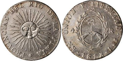 4 Real United Provinces of the Río de la Plata (1810 -1831) Silver