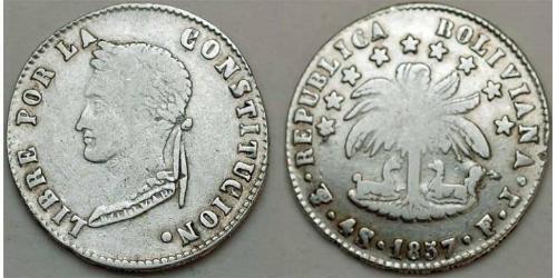 4 Sol Bolivia (1825 - ) Argento