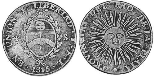 4 Sol United Provinces of the Río de la Plata (1810 -1831) Silver