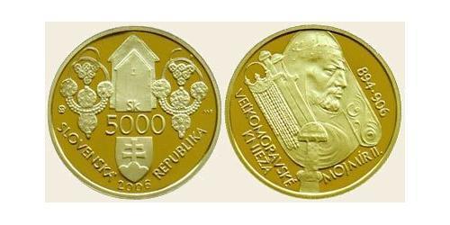 5000 Крона Словакия Золото