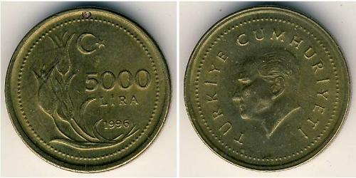 5000 Lira Turquie (1923 - )